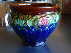Vintage Large Pottery Jardiniere Blue Green Brown