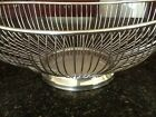 Vintage Silverplated Oval Wire Bread/Fruit Basket from Leonard of Hong Kong