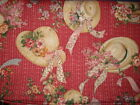 SHARON KESSLER FOR CONCORD FABRICS STRAW HAT FLORAL FABRIC 2.3 YDS X 44