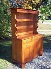 Vintage Solid Cherry Henkel Harris Hutch China Cabinet Cupboard China Cabinet