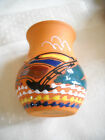 Authentic Caribbean Terra Cotta Clay Pottery Miniature Vase Sunset Sailboat