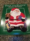 NEW Fitz and Floyd Happy Holidays Christmas Tray Serving Plate Santa 10