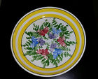 Valenti Italian Floral pottery Serving Bowl Hand painted Flowers 11.5