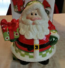 Fitz and Floyd Sata Cookie Jar Christmas Holidays St. Nick NEW IN BOX LOOK!