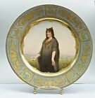 Mint 1800s Jeweled Royal Vienna Plate Signed by Wagner