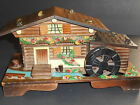 Vtg Musical Wood Swiss Chalet Trinket Box Rotating Water Wheel Lonely Goatherd