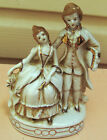Vintage Porcelain Figurine Colonial Man and Woman, Made in Japan, 5-1/2 in. tall