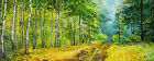 Summer Forest - Original Art Oil on Canvas Painting