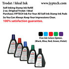 2 oz Trodat Ideal Rubber Stamp Refill Ink For Stamps or Stamp Pads 5 color ink