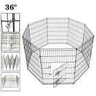 36 Dog Playpen Crate 8 Panel Fence Pet Play Pen Exercise Puppy Kennel Cage