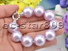 P5517 8inch 20mm Lavender Round South Sea Shell Pearl Braeclet