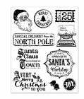 Forever in Time Clear Cling Rubber Stamps VINTAGE HOLIDAY New