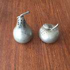 Pewter Apple and Pear Salt and Pepper Shaker Set