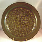FRANCISCAN MADEIRA Dinner Plate USA Earthenware Stoneware Flowers Brown Green