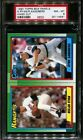 1990 TOPPS BOX PANELS-HAND CUT NOLAN RYAN-R.SANDBERG POP 1 PSA 8 B2203984-561