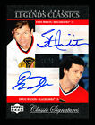 04-05 STAN MIKITA & DOUG WILSON Legends Classics Signatures Auto # 75 Blackhawks