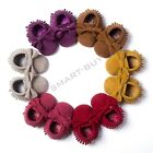 Baby Tassel Soft Sole Leather Matte Bow Shoes Infant Toddler Moccasin