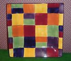 New Tabletops Gallery Caracas Square Dinner Plate, 10 1/4, Hand Painted