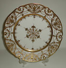 ANTIQUE NIPPON PORCELAIN PLATE CHARGER HAND PAINTED GOLD MORIAGE BEADED JAPAN