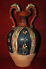 Rare Chinese Vintage 8thC Sancai Pottery Twin Auris Twin Dragon Big Vase