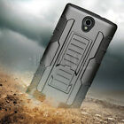 Protective Hybrid Rugged Rubber Holster Hard Case Cover For ZTE Zmax 2 Z958