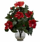 Hibiscus Artificial Silk Flowers in Acrylic Water by Nearly Natural | 17 inches