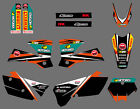 TEAM GRAPHICS BACKGROUNDS DECALS FOR KTM SX 250/380 /400/520 2003 2004 C