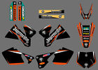 TEAM GRAPHICS BACKGROUNDS DECALS FOR KTM SX MXC 125/250/380/400/520 1998-2000 X