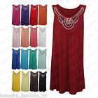 Ladies Women's Sleeveless Stud Embellish Baggy Flare Dress Top Plus Size 14-28