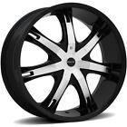ONYX 907 28 x 95 BLACK RIMS WHEELS TOYOTA SEQUOIA 01 07 6H +15