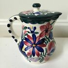 Vintage Germany Persian Ware Pitcher w Lid Creamer Hand Painted Limited Edition