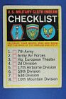 1965 Topps Battle Cards - #65 U.S. Military Cloth Emblem Checklist - UNCHECKED