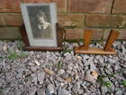 2x Art Deco 1930's 1940's Wood and Glass Picture Frame
