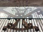 MIDCENTURY ORNATE ITALIAN WROUGHT IRON WITH GOLD LEAF 36