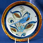 KEN EDWARDS MEXICO Hand Crafted Salad Plate with a Blue Bird Signed