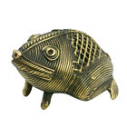 Hand made brass copper Art work authentic Frog figure Antique replica gift