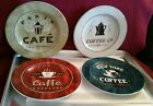 SET OF 4 COFFEE BREAK SALAD/ DESSERT STONEWARE PLATES - SAKURA - NIB
