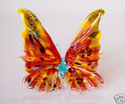 Butterfly Blown Glass Red Art Handmade Insect Miniature Collectible Figurine