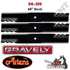Set of 3 Gator Blades 96 319 for Gravely  Ariens 60 Deck