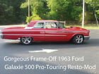 Ford Galaxie 1963 ford galaxie 500 boxtop pro touring high end frame off resto mod nice