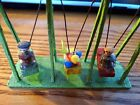 Antique Vtg German WOOD SWING SET BOATS TOY DOLLHOUSE MINIATURE