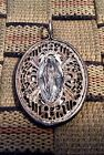 ANTIQUE STERLING SILVER RELIGIOUS MIRACULOUS WAR MEDAL / WW2 (RARE DESIGN)