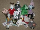 Complete Set of 9 Disney NIGHTMARE BEFORE CHRISTMAS Bean Bag Plush NEW WITH TAGS