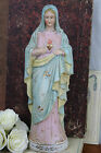 French Porcelain biscuit Holy Mary Madonna religious figurine