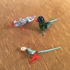 Selection of Collectable Art Glass Animal (Bird) Ornaments x 3