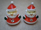 VINTAGE HOWARD HOLT WINKING SANTA SALT  PEPPER SHAKERS SET FIGURES JAPAN