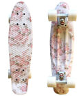 LMAI 22 27Cruiser Skateboard Graphic Floral Pink Flower Penny Style Board