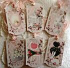 Easter 6 Shabby Chic Large Hang Tags Scrapbooking Cards 68 judysjemscrafts