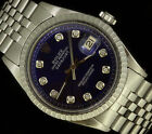Rolex Mens Datejust Stainless Steel Oyster Diamond Dial Luxury Automatic Watch