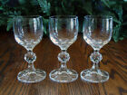 Bohemia Crystal CLAUDIA Set/3 CORDIAL Glasses with Ball Stem